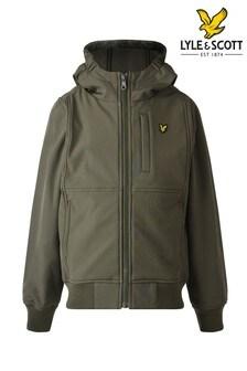 Lyle & Scott Boys Green Soft Shell Jacket