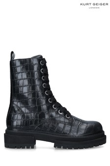 Kurt Geiger London Black Siva Biker Boots