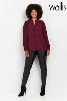 Wallis Tall Black PU Ponte Leggings