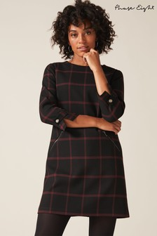 Phase Eight Black Hermione Check Dress