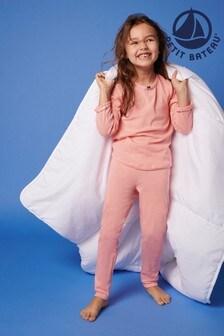 Petit Bateau Pink Stripe Pyjamas
