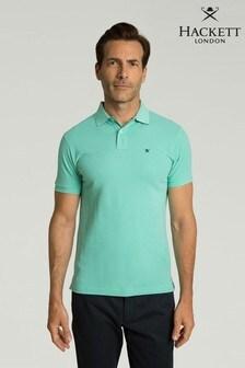 Hackett Blue Slim Fit Logo Polo Shirt
