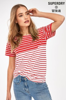 Superdry Red Breton T-Shirt