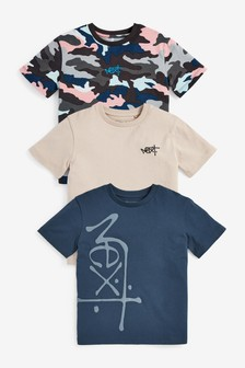 3 Pack Next Camouflage T-Shirts (3-16yrs)