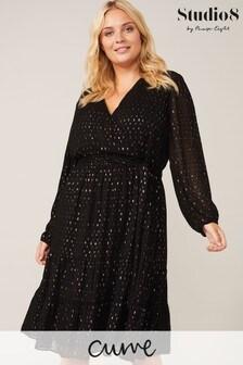 Studio 8 Black Multi Ashlea Jacquard Dress