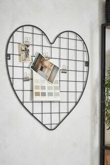 Metal Heart Memo Board