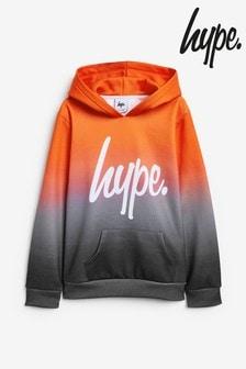 Hype. Orange Fade Hoody