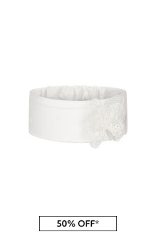 Monnalisa Baby Girls Cream Cotton Headband