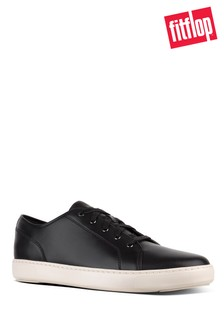 FitFlop™ Black Christophe Leather Sneakers