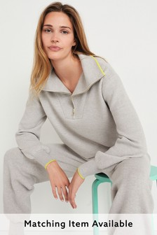 Soft Knitted Half Zip Top