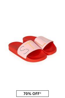 Stella McCartney Kids Girls Pink Sliders