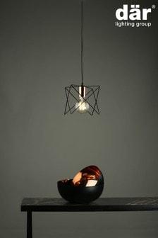 Dar Lighting Black Midi Pendant