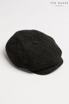 Ted Baker Open Check Wool Baker Boy Cap