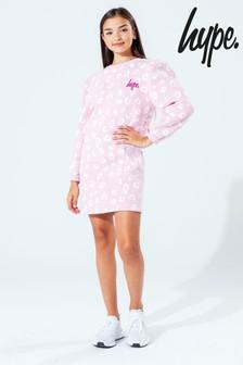 Hype. Pink Spots Kids Sweat Dress