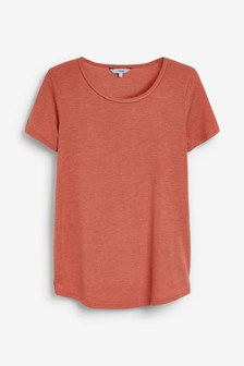 Cut Metallic Scoop T-Shirt