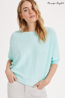 Phase Eight Linen Spot Becca Jumper