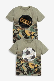 Football Sequin Change T-Shirt (3-16yrs)