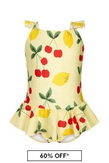 Mini Rodini Girls Yellow Swimsuit
