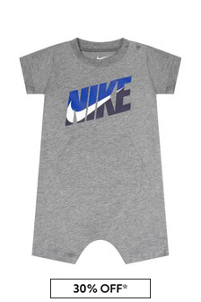Nike Baby Boys Grey Cotton Romper