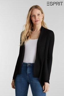 Esprit Black Open Ribbed Cardigan