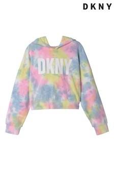 DKNY Multicoloured Tie Dye Logo Hoodie