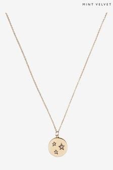Mint Velvet Gold Plated Disc Necklace