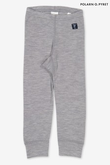 Polarn O Pyret Grey Soft Merino Long Johns