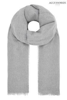 Accessorize Grey Wells Supersoft Blanket