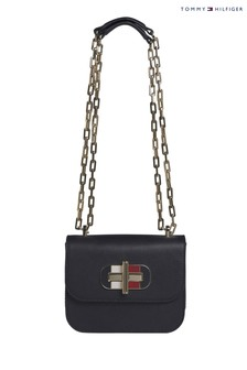 Tommy Hilfiger Blue Turnlock Mini Bag