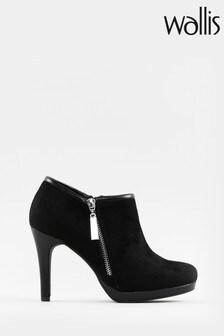 Wallis Claudia Black Side Zip Platform Boots