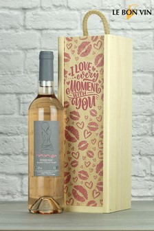 Love Every Moment Inna Provence Rose Wine Gift by Le Bon Vin