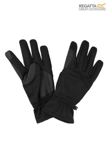 Regatta Black Softshell Gloves