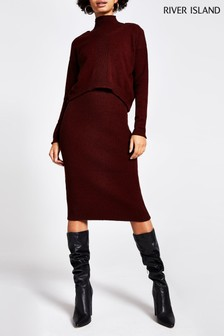 River Island Mulberry Mary Jane 2-In-1 Jumper Dress