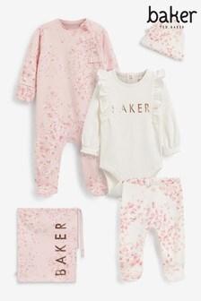 Baker by Ted Baker Pink 5 Piece Newborn Set