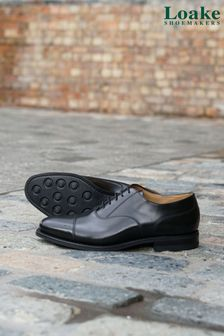 Loake Black 300BRG Oxford Toe Cap Shoes