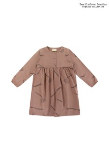 Turtledove London Brown Collect Moments Woven Dress