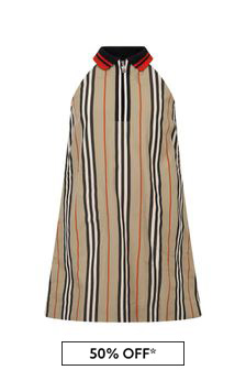Burberry Kids Girls Beige Cotton Dress