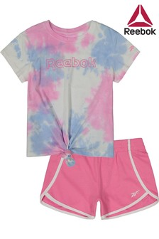 Reebok Infant Pink Tie Dye T-Shirt And Legging Set