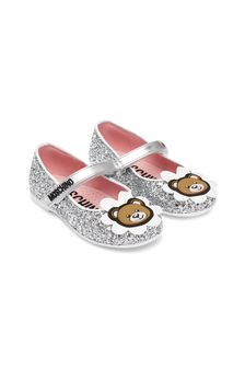 Moschino Kids Girls Gold Leather Shoes
