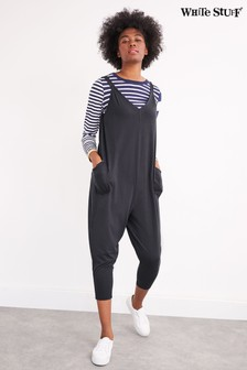 White Stuff Grey Selina Jersey Jumpsuit