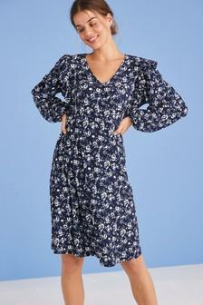 Maternity/Nursing Ruffle Dress