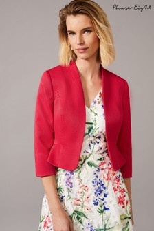 Phase Eight Pink Clementine Textured Occasion Jacket