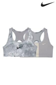 Nike Swoosh Reversible Printed Sports Bra