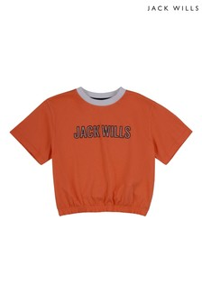 Jack Wills Girls Orange Elasticated Waist T-Shirt