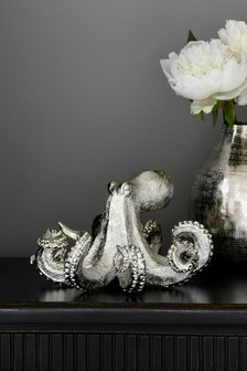Silver Resin Octopus Ornament