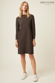 Great Plains Green Somme Knit High Neck Dress