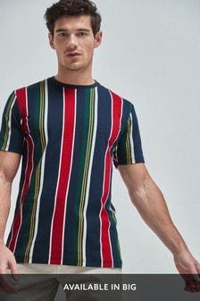 Vertical Stripe Regular Fit T-Shirt