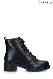 Carvela Black Treaty Lace-Up Boots