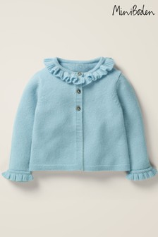 Boden Blue Frilly Cashmere Cardigan