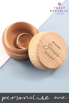 Personalised Wedding Ring Box by Treat Republic
